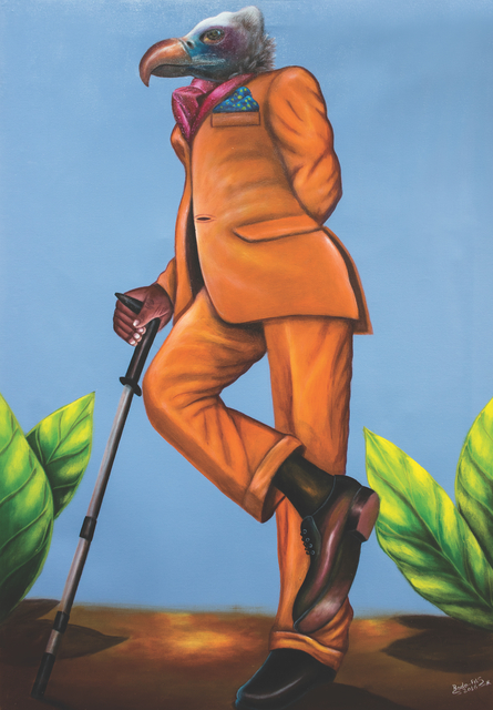 Bodo Fils BBM (M'Pambu Bodo Bodo), 'Sapeur-Totem series, Eagle on the Crutch.', 2016, AfricArt Gallery Hong Kong