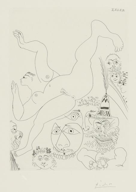 Pablo Picasso, 'Télévision: Gymnastique au sol, avec spectateurs (B. 1763; Ba. 1780)', 1968, Print, Etching, Sotheby's