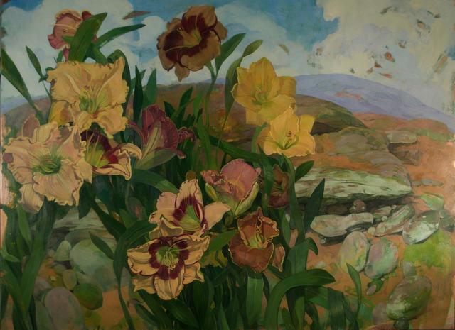 , 'Day Lilies in Landscape,' 2018, LeMieux Galleries