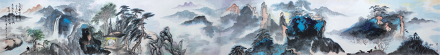 , 'Overlapping green peaks 翠峰叠嶂 ,' , Tian Bai Calligraphy and Painting (天白書畫)