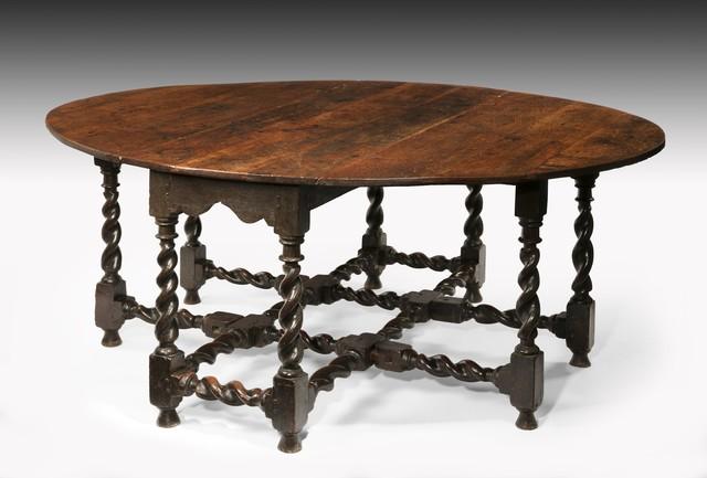 , 'Charles II Oak Double Gateleg Table,' ca. 1665, Thomas Coulborn & Sons