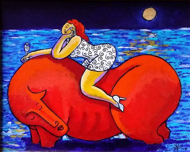 , 'Stag Night,' 2014, Anna Laudel