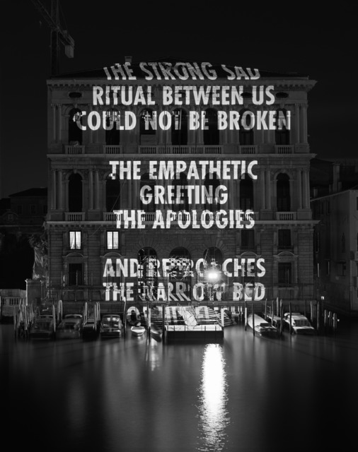 Jenny Holzer, 'Ritual between us...,' 2006, Brooklyn Artists Ball