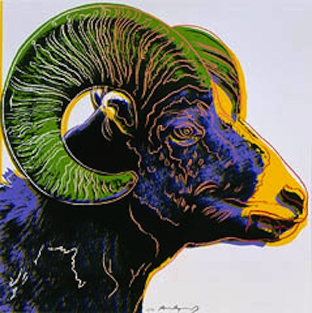 Andy Warhol, 'Big Horn Ram, from Endangered Species', 1983, Gregg Shienbaum Fine Art