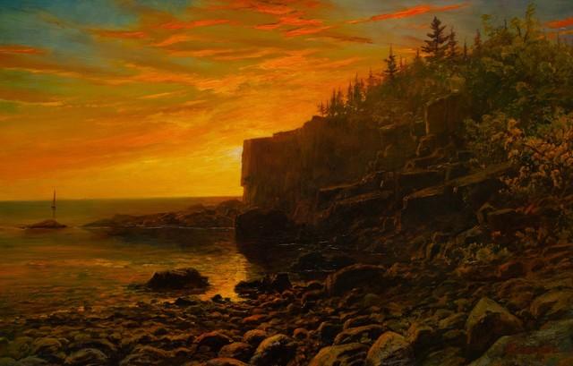 Erik Koeppel, 'Otter Cliffs, Acadia', 2020, Painting, Oil on panel, The Guild of Boston Artists
