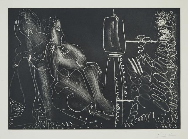 Pablo Picasso, 'Peintre À Son Chevalet Avec Deux Femmes Nues (Dans L'Atelier)', 1966, Waddington's