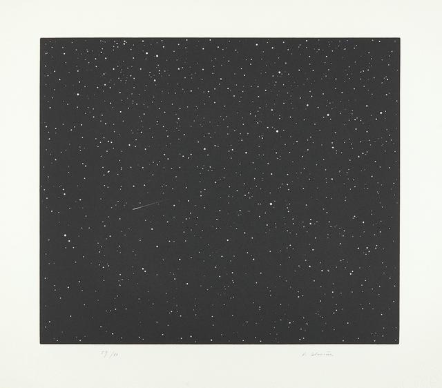 Vija Celmins, 'Comet, from Skowhegan Suite 1992', 1992, Print, Linocut, on Fabriano Tiepolo paper, with full margins., Phillips