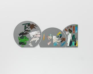 Group Portrait - Ryan Gander, Gabriel Kuri and Michel François very badly composed by a stranger, Berlin, 2015