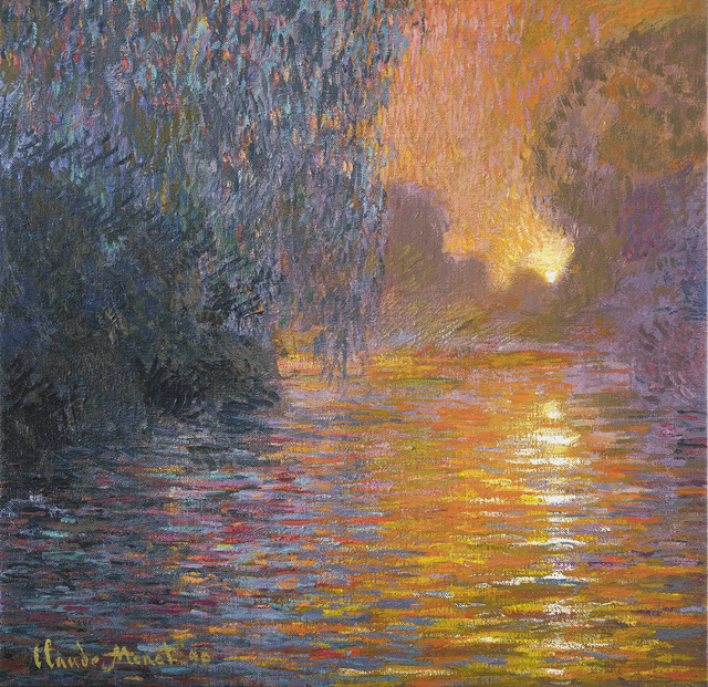 John Myatt, ' Sunrise On The Seine', 2021, Print, A signed hand-embellished stretched canvas, Castle Fine Art