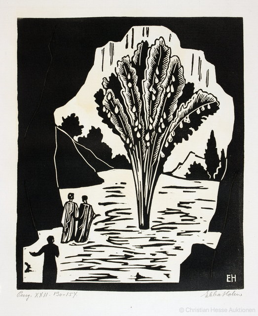 Ebba Holm, 'THE COMPLETE SUITE OF 107 SIGNED RELIEF PRINTS (mainly woodcuts, but also a few linoleum cuts) for Dante's Guddommelige Komedie (Divine Comedy)', 1923-1928, Sylvan Cole Gallery