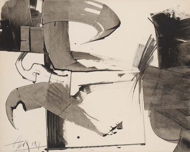 , 'Untitled (Abstract Composition in Tones Gray),' 1961, Washburn Gallery