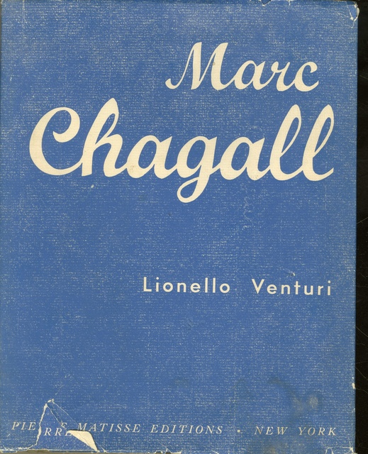 , 'Lt. Ed. Monograph , HAND SIGNED & DEDICATED BY CHAGALL TO LITERARY CRITIC & FRENCH SCHOLAR PIERRE BRODIN ,' 1945-1947, Alpha 137 Gallery