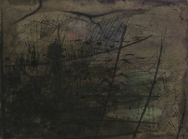 Antônio Bandeira, 'Untitled', 1957, Drawing, Collage or other Work on Paper, Watercolor and India ink on paper, Galerie 1900-2000