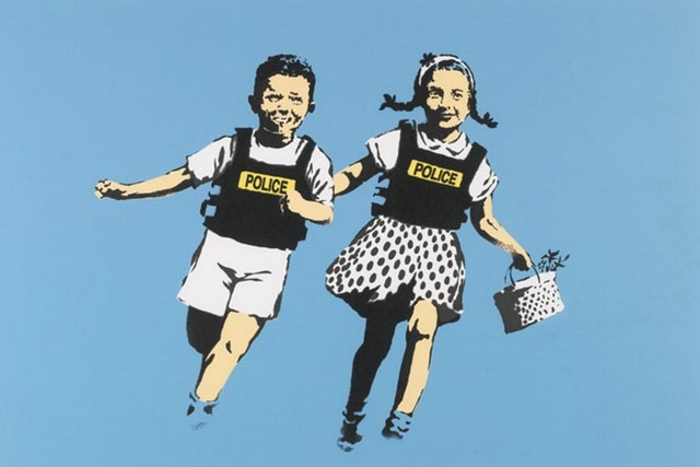 Banksy, 'Police Kids (Jack and Jill)', 2005, Rhodes