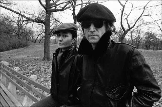 , 'John and Yoko on a bench in Central Park,' 1980, Madelyn Jordon Fine Art