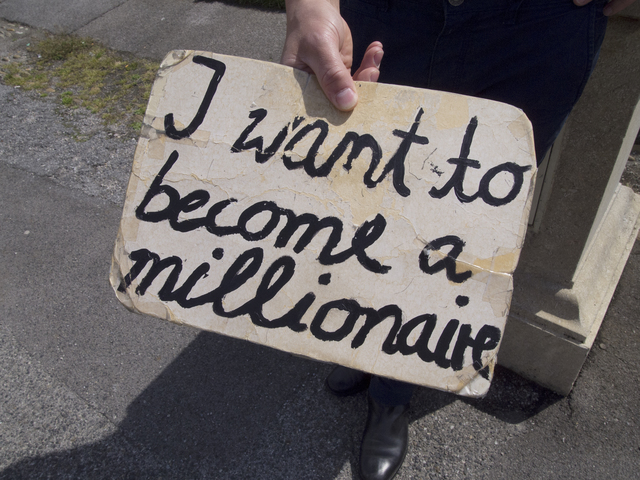 , 'I want to become a millionaire,' 2010, RIB