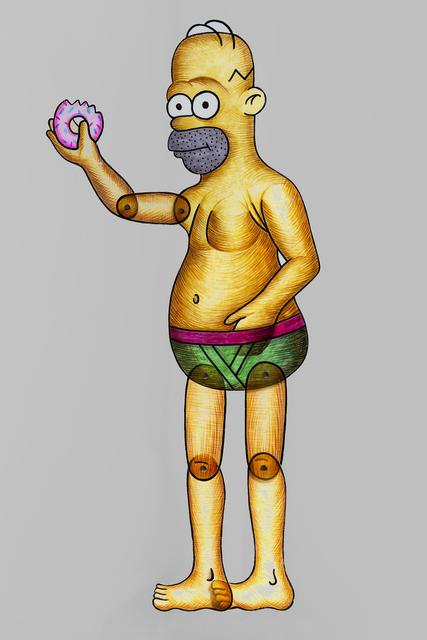 Spyros Aggelopoulos, 'Homer Simpson', 2018, Dio Horia