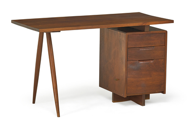 Early Single Pedestal Desk