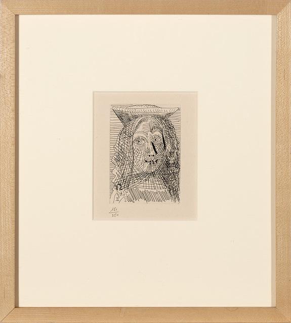 Pablo Picasso, 'La Célestine (B. 1564; 1596; 1616; 1617; 1625; 1630; 1635; 1636; 1657; 1727; 1728; 1733; C. Bks. 149)', 1968, Print, Etchings and aquatints, on Auvergne laid paper Richard de Bas with LA CÉLESTINE watermark, Doyle