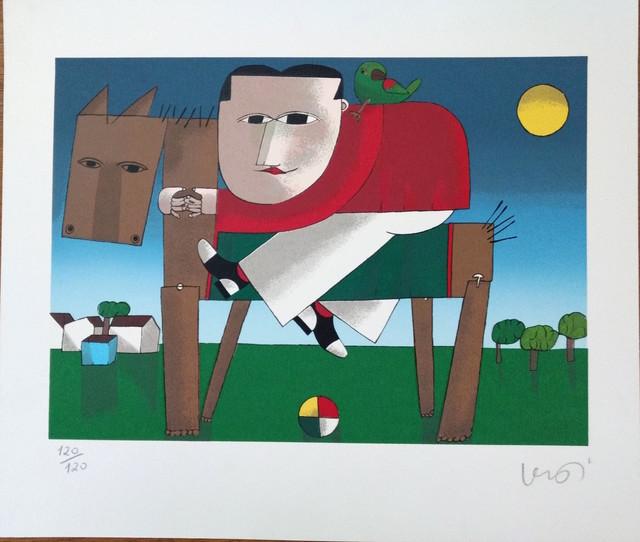 Inos Corradin, 'Wooden Horse ', 2000-2010, Print, Serigraphy, Ligia Testa Espaço de Arte