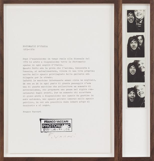 , 'Photomatic d'Italia,' 1972-1974, SAGE Paris