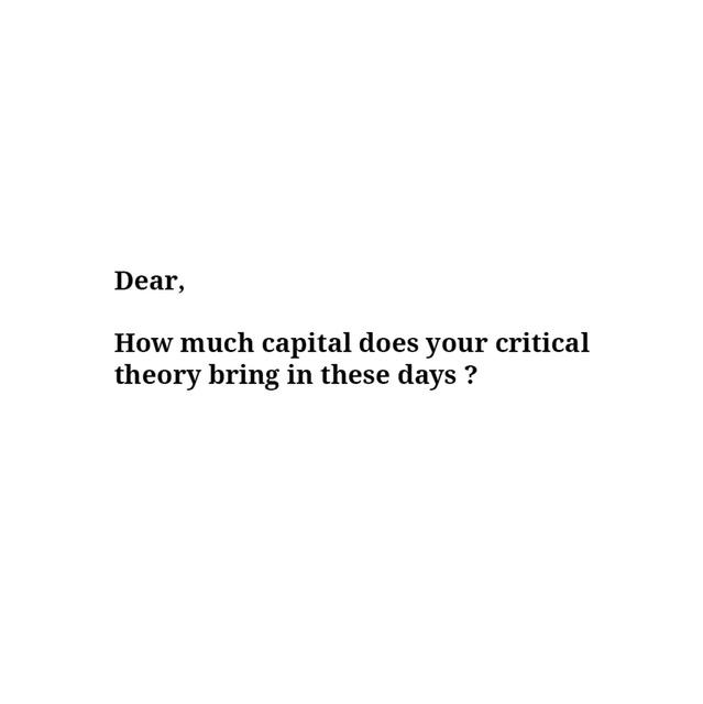 , 'Capital Critical Theory,' , Sabrina Amrani