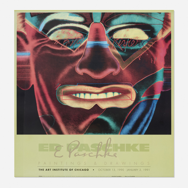 'Ed Paschke exhibition poster', 1990, Wright