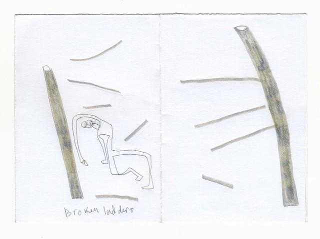 , 'μg, broken ladder,' 2019, UNION Gallery
