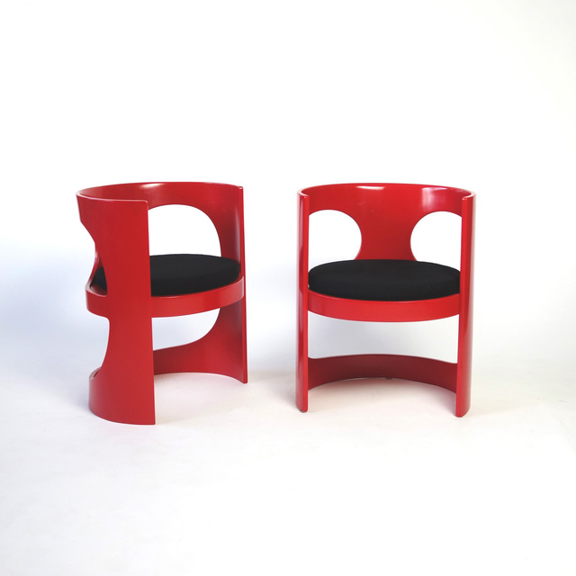 ", 'RARE PAIR OF ARNE JACOBSEN ""PRE POP"" CHAIRS,' 1969, Lawton Mull"