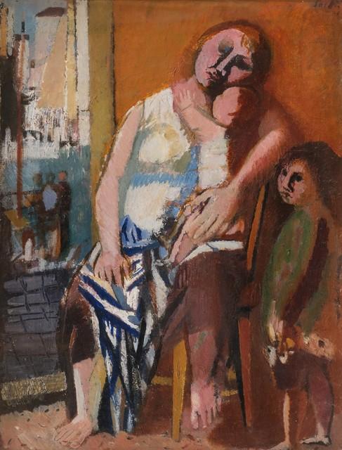 Bruno Saetti, 'Madre veneziana', 1948, Painting, Oil on canvas, Finarte