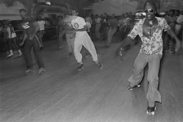 Bill Bernstein, 'Skaters, Empire Roller Disco, Brooklyn', 1979, David Hill Gallery