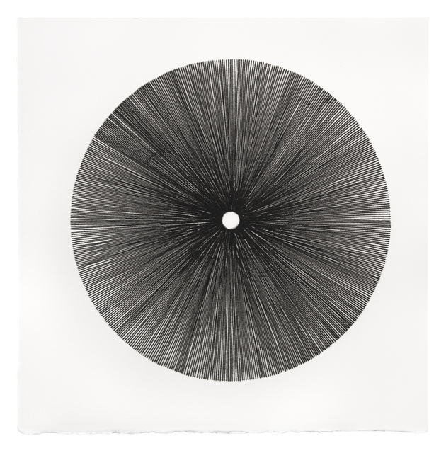 Mel Douglas, 'FIELD LINES III', 2021, Drawing, Collage or other Work on Paper, Glass drawing on paper, Traver Gallery