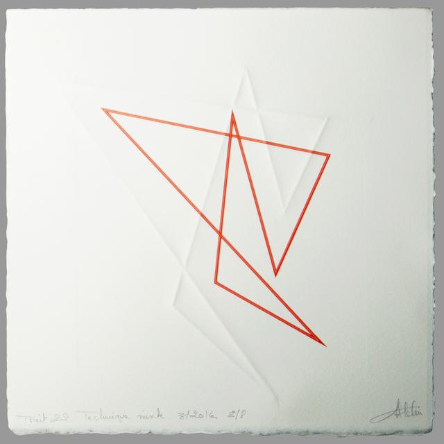 , 'Trait 22,' 2016, Galerie Marie-Robin