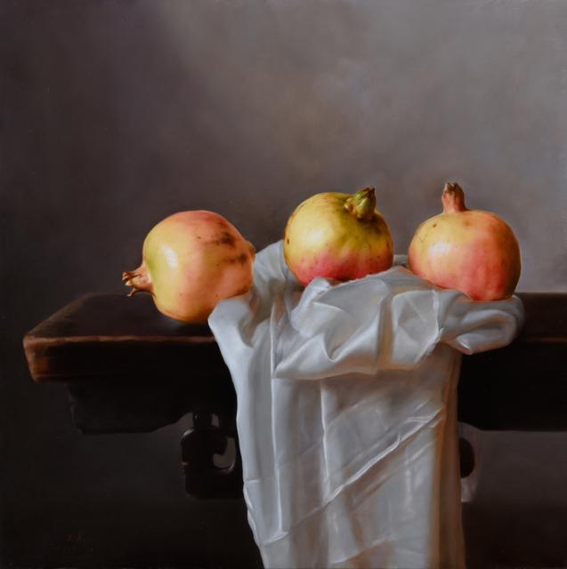 Weidong Wang, 'Still Life With Three Pomegranates', 2015, Odon Wagner Gallery