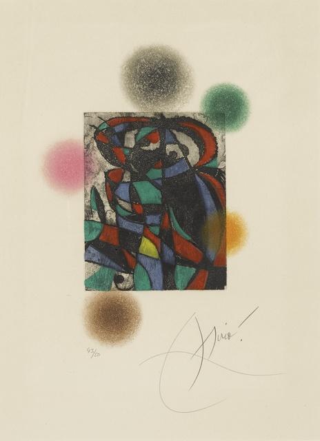 Joan Miró, 'Arlequin Crépusculaire (D. 738)', 1975, Sotheby's