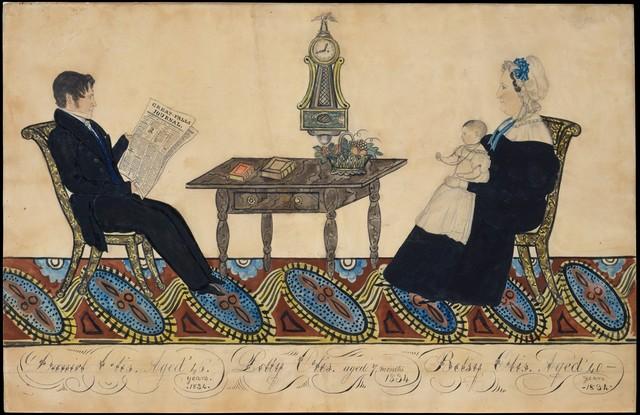 Joseph H. Davis, 'Mr. and Mrs. Daniel Otis and Child', 1834, The Metropolitan Museum of Art