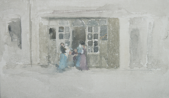, 'Women and Children outside a Brittany Shop,' ca. 1888, Thomas Colville Fine Art