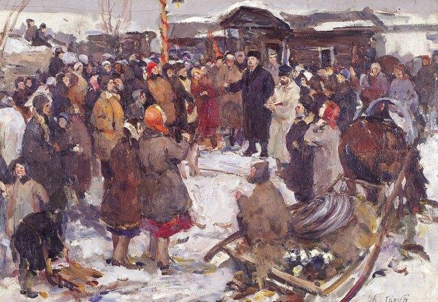 Leonid Aleksandrovich Golub, 'Lenin with the people', 1958, Surikov Foundation