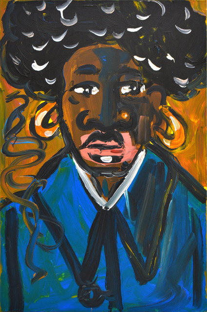 , 'Afro Mao with Blue Stripe,' 2018, Ethan Cohen New York