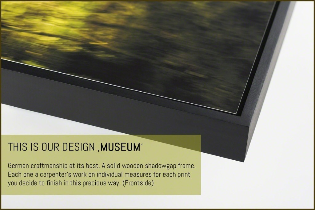 Our framing design 'MUSEUM' (frontside). Precious craftsmanship we use for all framing work you order.