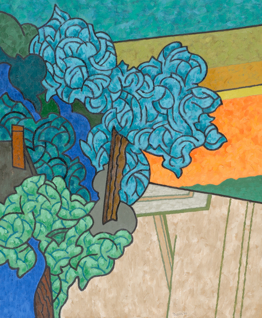 , 'Blue Tree, Green Tree,' 1996, Caldwell Gallery Hudson