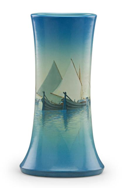 Carl Schmidt, 'Marine Scenic Vellum vase (uncrazed), Cincinnati, OH', 1924, Design/Decorative Art, Rago/Wright