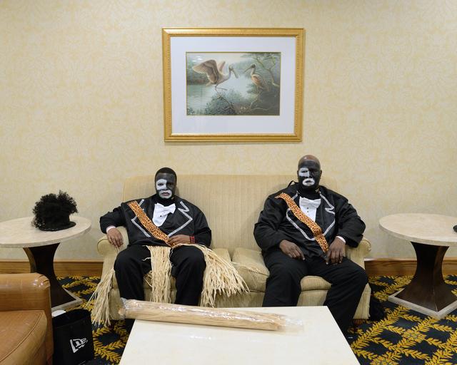 Nicola Lo Calzo, 'Brandon & Wallace wearing blackface Zulu Social & Aid & Pleasure Club, New Orleans, Louisiana', 2014, Photography, Pigment Inkjet Print, Galerie Dominique Fiat