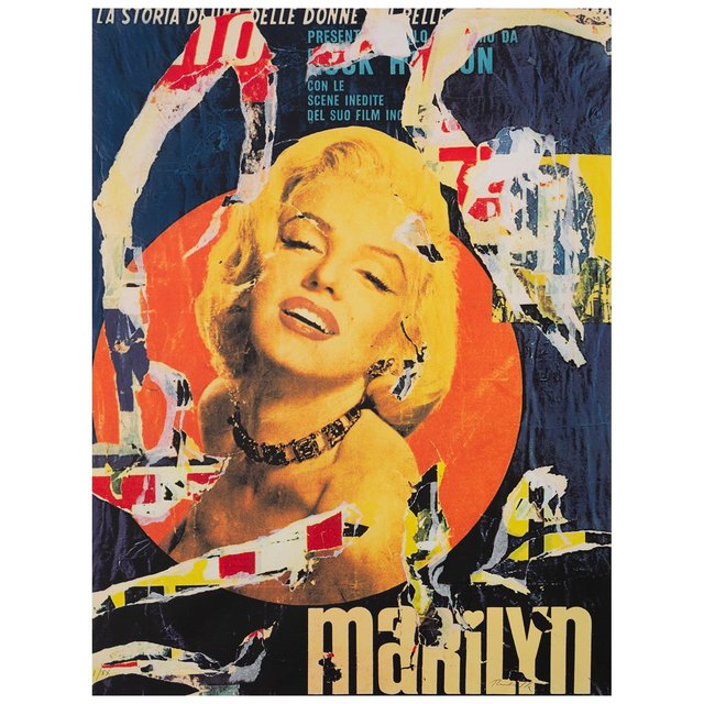 Mimmo Rotella, 'Marilyn', 1991, Drawing, Collage or other Work on Paper, Color screenprint and torn-paper collage on white wove paper, Caviar20
