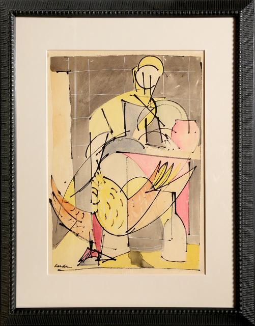 Romare Bearden, 'Figure with Bird', ca. 1946, RoGallery