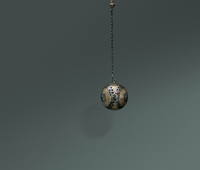 , 'Gilt Silver Sachet with Flower and Bird Patterns,' Tang dynasty-618–907, Art Museum of the Chinese University of Hong Kong