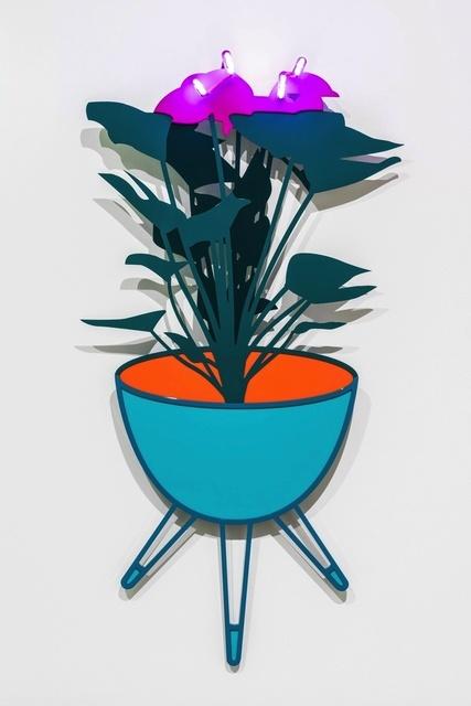 Joanna Lamb, 'Bullet Planter with Flamingo Flower (purple neon)', 2015, Sullivan+Strumpf