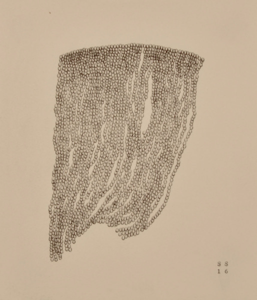 Stephanie Strange, 'Beard II', 2018, Drawing, Collage or other Work on Paper, Typewriter on paper, Wally Workman Gallery