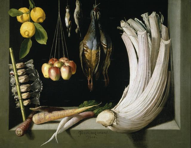 Juan Sánchez Cotán, 'Still Life with Game Bird, Fruit, and Vegetables,' 1602, Art History 101