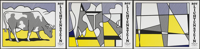 Roy Lichtenstein, 'Cow Triptych (Cow Going Abstract)', 1982, Print, Screenprint in colors, Rago/Wright
